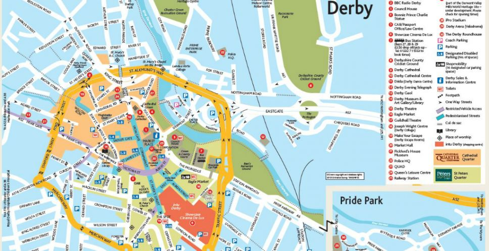Map of Derby City