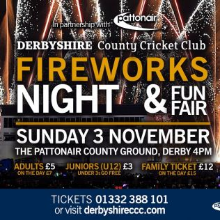 Fireworks Night & Fun Fair - 3 Nov