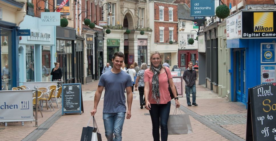 Shopping in Sadler Gate, Derby